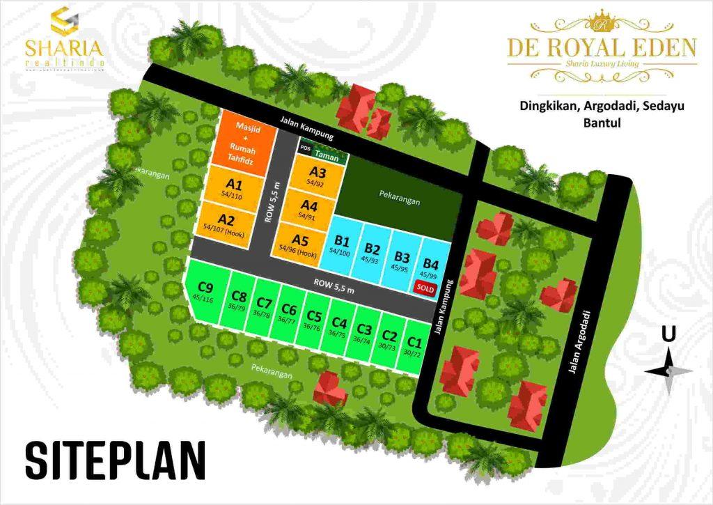 Siteplan De Royal Eden